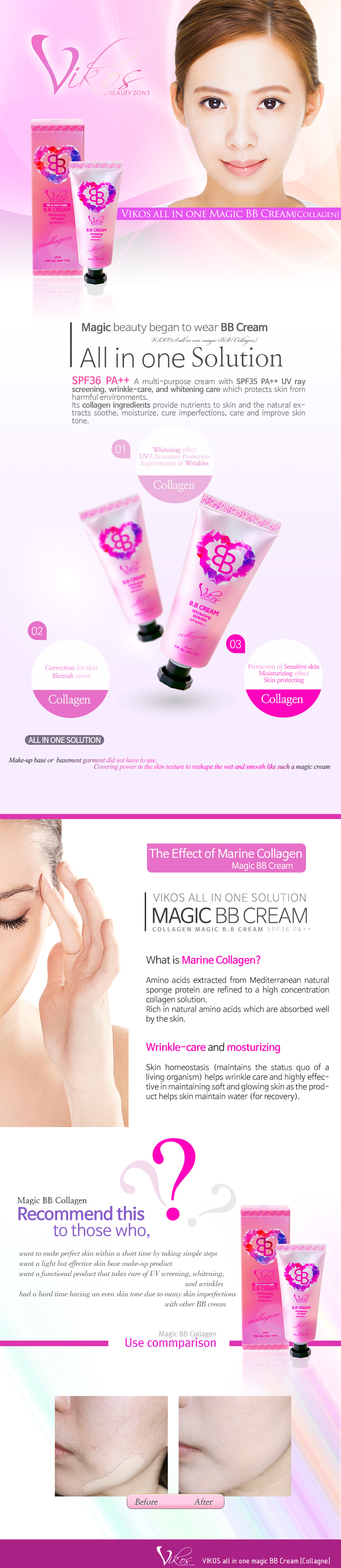 [VIKOS] All in one Magic BB (Collagen)