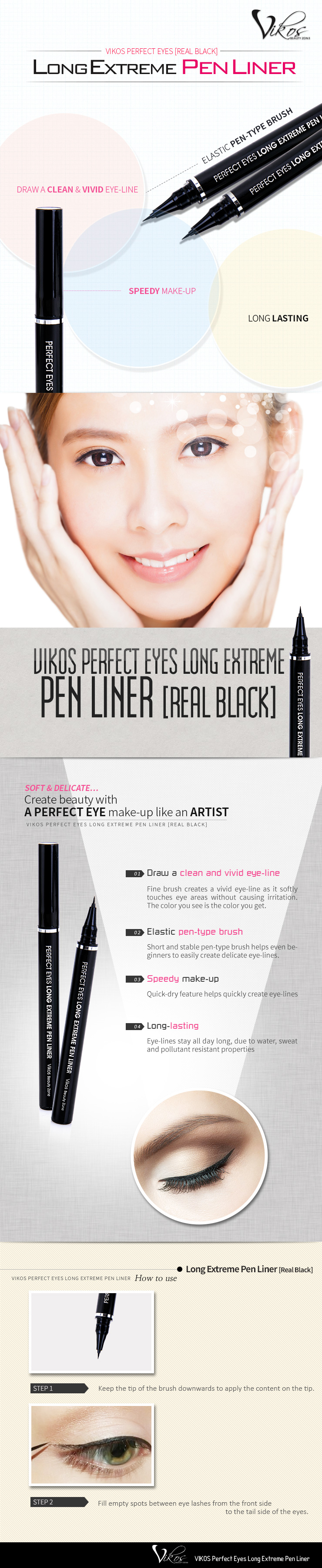 VIKOS Perfect Long Extreme Pen Eyeliner